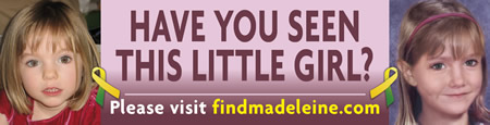 Please help with the search for missing, Madeleine McCann
