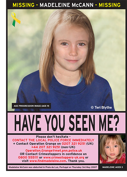 Maddie McCann's parents to join prayer service marking anniversary of her disappearance  Madeleine_age9_english